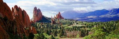 Rock Formations on a Landscape, Garden of the Gods, Colorado Springs, Colorado, USA