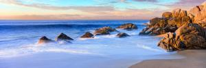 Rock Formations on the Beach at Sunrise, Lands End, Cabo San Lucas, Baja California Sur, Mexico