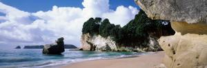Rock Formations on the Beach, Cathedral Cove, Coromandel Peninsula, North Island, New Zealand