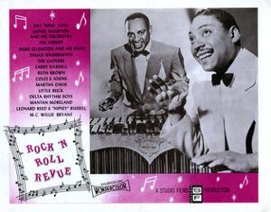 Rock 'N' Roll Revue, from Left: Lionel Hampton, Joe Turner, 1955