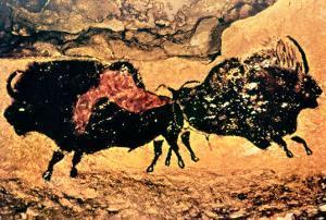 Rock Painting of Bison, circa 17000 BC