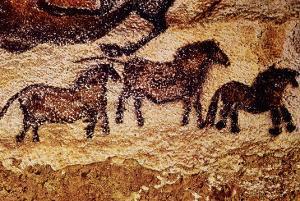 Rock Painting of Tarpans (Ponies), circa 17000 BC
