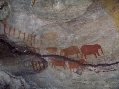 Rock Paintings, Matopo Park, Zimbabwe, Africa by I Vanderharst