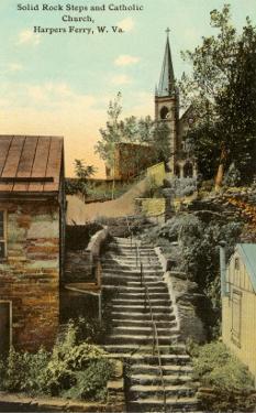 Rock Steps, Catholic Church, Harper's Ferry, West Virginia
