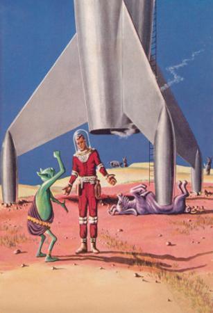Rocket Lands on Alien Beast
