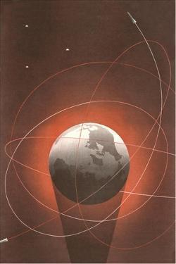 Rocket Paths around Globe