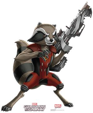 Rocket Raccoon - Animated Guardians Of The Galaxy Lifesize Cardboard Cutout