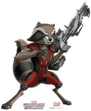 Rocket Raccoon - Animated Guardians Of The Galaxy Lifesize Standup