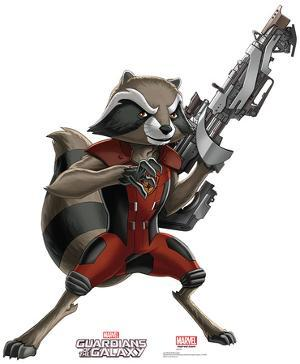 Rocket Raccoon - Animated Guardians Of The Galaxy Lifesize Standup