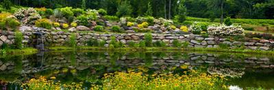 Rocks and plants in Rock Garden, Knowlton, Quebec, Canada