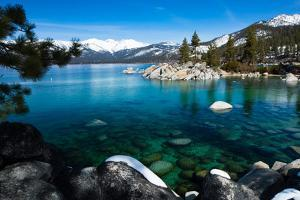 Rocks in a Lake, Lake Tahoe, California, USA