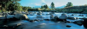 Rocks in the River, Mount Taranaki, Taranaki, North Island, New Zealand