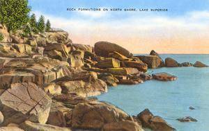 Rocks on North Shore, Lake Superior, Minnesota