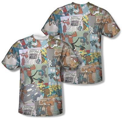 Rocky & Bullwinkle - Collage (Front/Back)