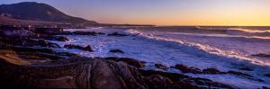 Rocky coastline at sunset, Montana de Oro State Park, Morro Bay, California, USA