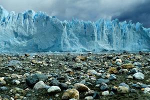 Rocky Glacier Beach Patagonia Argentina Plastic Sign