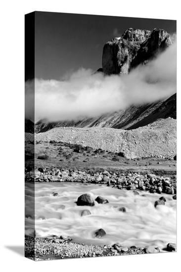 Rocky Landscape, Banff, Alberta--Stretched Canvas Print
