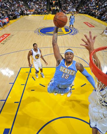 Denver Nuggets v Golden State Warriors: Carmelo Anthony by Rocky Widner