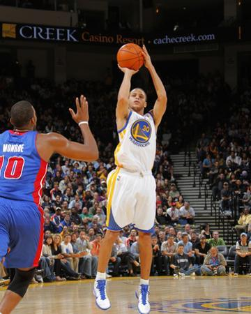 Detroit Pistons v Golden State Warriors: Stephen Curry by Rocky Widner
