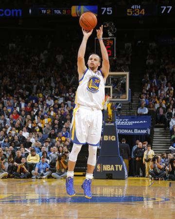 Feb 20, 2014, Houston Rockets vs Golden State Warriors - Stephen Curry by Rocky Widner