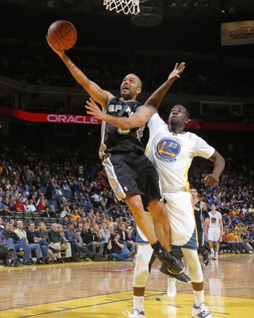 Mar 22, 2014, San Antonio Spurs vs Golden State Warriors - Tony Parker, Draymond Green