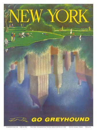 New York, USA, Central Park, New York City, Go Greyhound