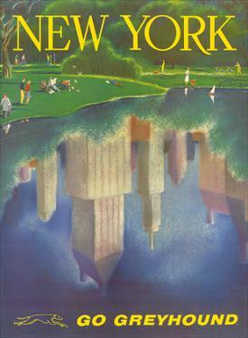New York, USA, Central Park, New York City, Go Greyhound by Rod Ruth