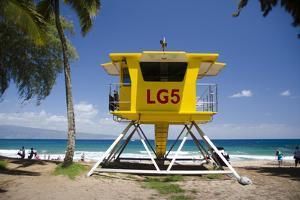 Life Guard Station, Dt Fleming Beach Park, Kapalua, Maui, Hawaii, USA by Roddy Scheer