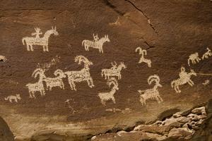 Ute Petroglyphs, Arches National Park, Utah, USA by Roddy Scheer