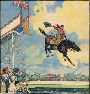 Rodeo Rider's Leap by R Moritz