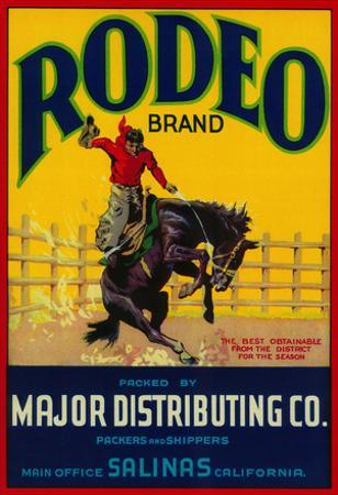 Rodeo Vegetable Label - Salinas, CA