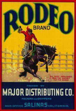 Rodeo Vegetable Label - Salinas, CA