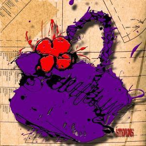 Flower Purse Red on Purple by Roderick E. Stevens
