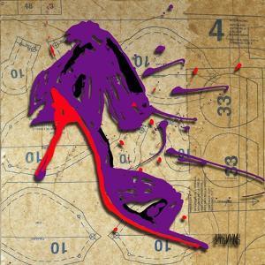Purple Bow Heel by Roderick E. Stevens