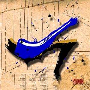 Suede Heel Blue by Roderick E. Stevens