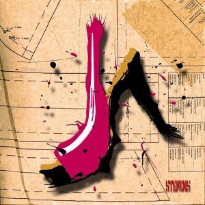 Suede Heel Pink by Roderick E. Stevens