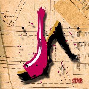Suede Heel Pink by Roderick E. Stevens