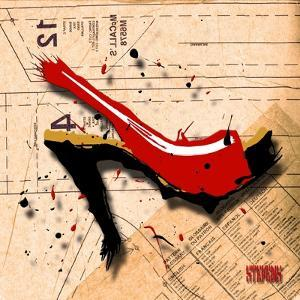 Suede Heel Red by Roderick E. Stevens