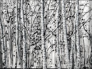 Winter Aspens by Roderick E. Stevens