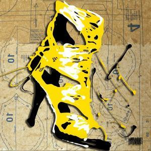 Yellow Strap Boot by Roderick E. Stevens