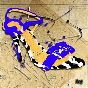 Zebra Heel Blue by Roderick E. Stevens