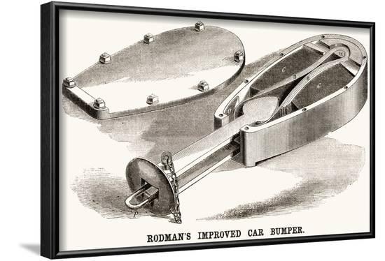 Rodman's Improved Car Bumper--Framed Art Print