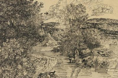 Bathers in a Brook by Rodolphe Bresdin