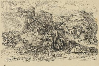 The Smugglers, 1858 by Rodolphe Bresdin