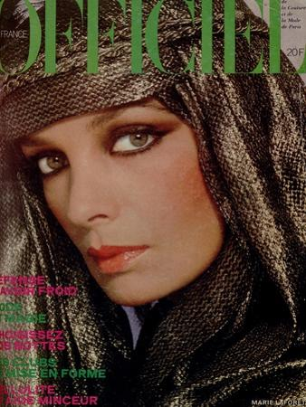 L'Officiel, October 1977 - Marie Laforêt by Rodolphe Haussaire