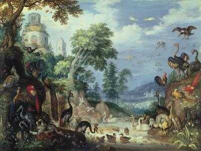 Landscape with Birds, 1628