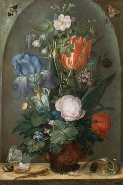 Flower Still Life with Two Lizards, 1603 by Roelant Savery