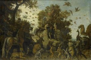 Poet Crowned by Two Apes at the Feast of the Animals by Roelant Savery