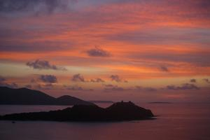 Sunrise over the Sir Francis Drake Channel, Tortola Island by Roff Smith