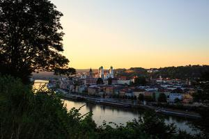 The German City of Passau, on the Danube River Near the Austrian Border by Roff Smith